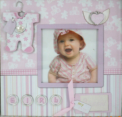 Baby Girl Scrapbook Photo Album With Embellishments Keepsake Baby Girl Gift