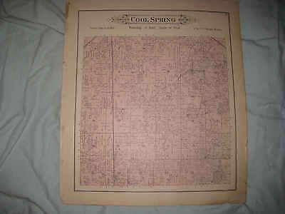 ANTIQUE 1892 COOLSPRING TOWNSHIP WATERFORD LaPORTE COUNTY INDIANA HANDCOLOR MAP