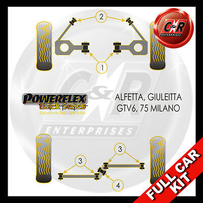Alfa Romeo 75 (Milano) Powerflex Black Complete Bush Kit