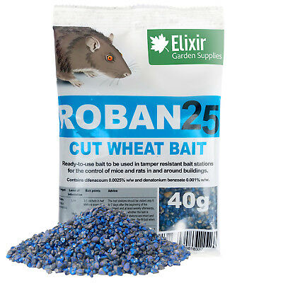 Roban25 Cut Wheat Mouse & Rat Poison | Strongest Available Online | 40g Sachets