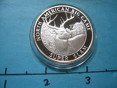White Tail Deer North American Big Game Slam Hunting 999 Silver Coin Sharp #3