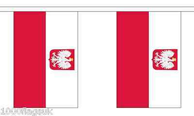 Poland Eagle Polyester Flag Bunting - 6m long with 20 Flags