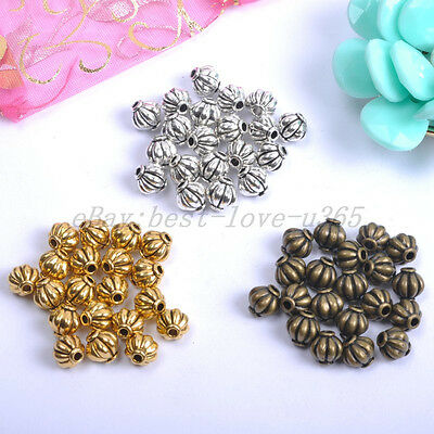 TIBETAN SILVER & GOLD & BRONZE Tone Tiny, Charms Spacer BEADS 4MM,6MM,8MM BE117