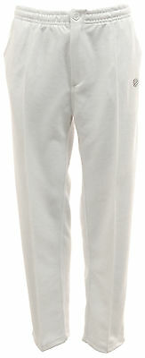 Mens GREEN PLAY Sports White Bowls Trousers Jersey Knitted Soft Cotton Inner lin