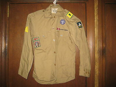 Canadian Boy Scout Shirt With Insignia, XS/TP     A20