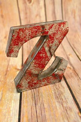 Fantastic Vintage Style Red 3D Metal Shop Sign Letter Z Advertising Font