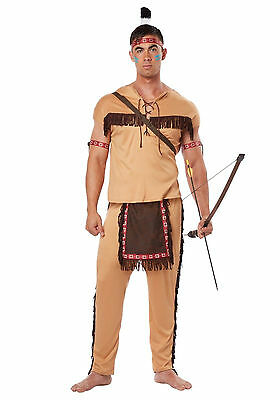 Adult Indian Warrior Native American Brave Costume