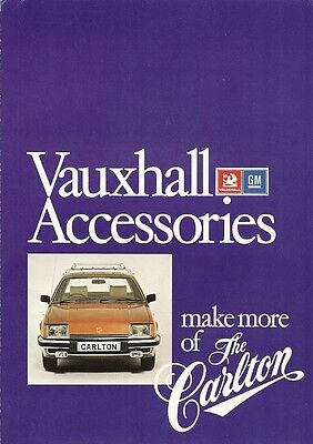 Vauxhall Accessories Make More Of The Carlton Brochure.