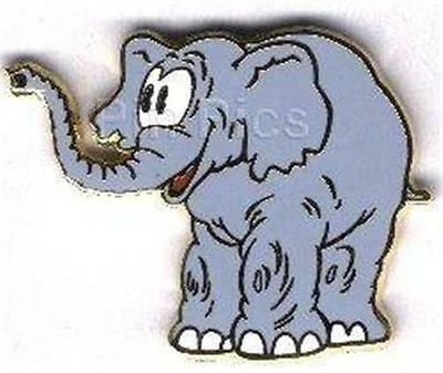 CARTOON ELEPHANT Trunk UP MICKEY Mouse CIRCUS 2004 LE 1500 HTF DISNEY PIN