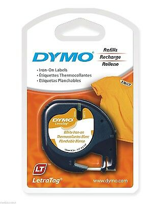 Dymo LetraTag 18771 IRON-ON Fabric Label Tapes Letra Tag LT-100T LT-100H XR QX50