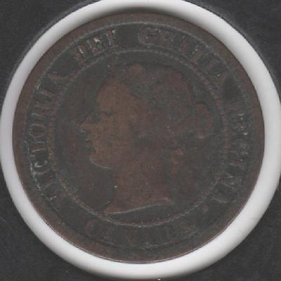 1876-H VERY GOOD Canadian Large Cent #2