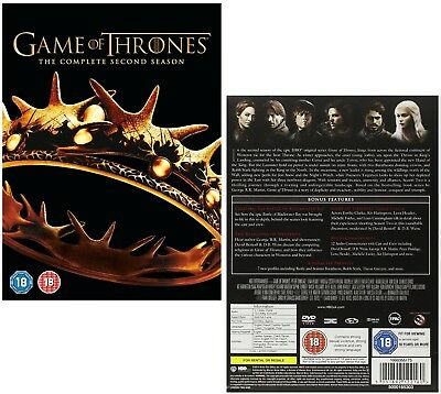 GAME OF THRONES 2 (2012) - A CLASH of KINGS - TV Season Series NEW R2 DVD not US