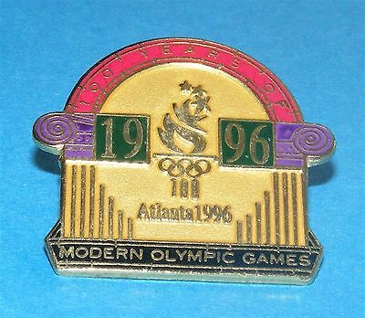 ATLANTA 1996 Olympic Collectible Logo Pin - 100 Years of Modern Olympic Games