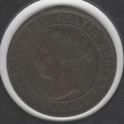 1895 FINE-VERY FINE Canadian Large Cent #3
