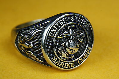 Us-Navy United States Us Marine Corps Siegelring Military Herrenring 137