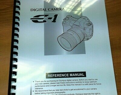 Olympus E-1 Digital Camera Printed Instruction Manual User Guide 182 Pages