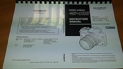 Olympus E-420 Digital Camera Printed Instruction Manual User Guide 147 Pages