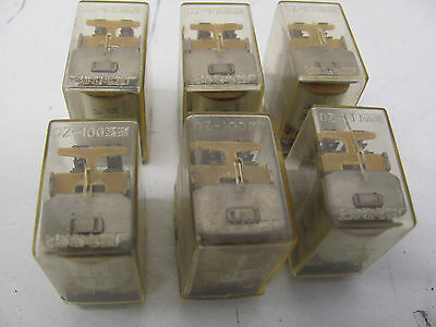 Lot Of 6 Generic Industrial Power Relays Dz-100 24V 14-Pin Used