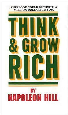 Think and Grow Rich by Napoleon Hill (English) Mass Market Paperback Book Free S