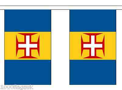 Portugal Madeira Polyester Flag Bunting - 6m long with 20 Flags