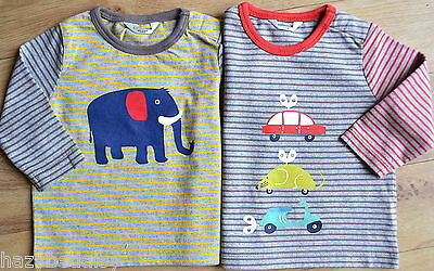 Mini Boden boys /baby cotton long sleeve applique top t-shirt 3 months - 3 years
