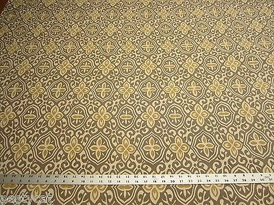 2 1/4 yards geometric design print fabric for drapery or upholstery r1192
