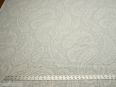 3 3/8 yards paisley print fabric for drapery or upholstery r1174