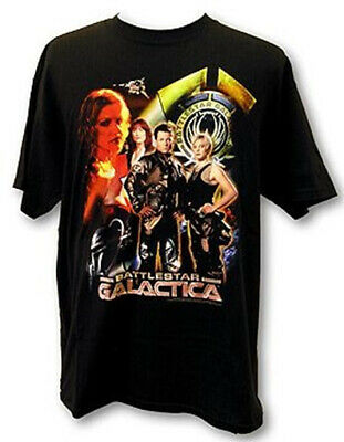 New Battlestar Galactica TV Series Cast Collage T-Shirt NEW UNWORN