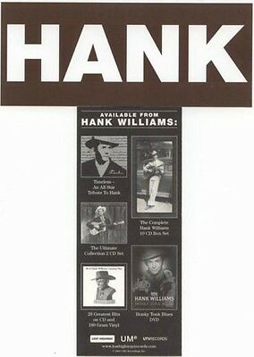 """Hank Williams 2004 """"HANK"""" BiG promotional sticker ~MINT condition~NEW old stock~"""