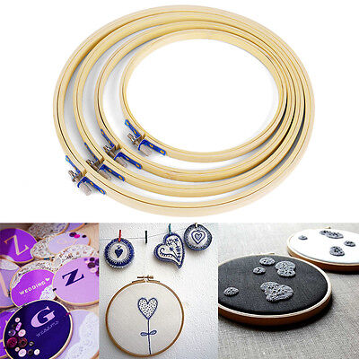 4 pcs in set Wooden Embroidery Cross Stitch Ring Hoop 7''/ 8''/9''/10''