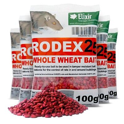 1 x 3KG RODEX WHOLE WHEAT RAT MOUSE PROFESSIONAL BAIT POISON RODENT KILLER