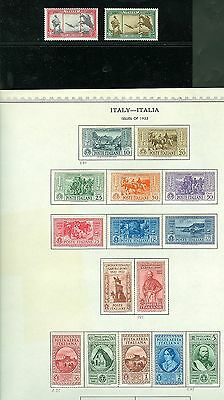 ITALY SCOTT# 280-9, C35-9, CE1-2, CB1-2 MINT HINGED AS SHOWN