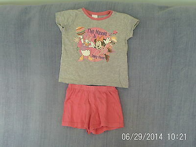 Girls 3-4 Years - Disney Minnie Mouse & Daisy Duck Short Pyjamas - Pink & Grey