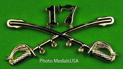 17th Cavalry Crossed Sabers Large Hat Pin