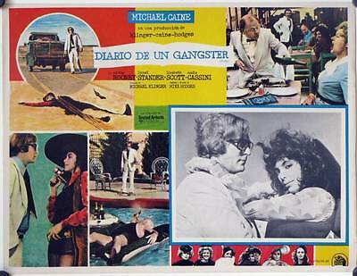 L420 PULP original Mexican Lobby card 1972  Michael Caine in action!