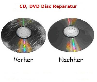 Professionelle CD / DVD Disc Repair Reparatur ; Polieren ; Zerkratzt PS2, WII