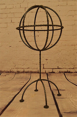Fantastic Twisted Metal Hat Stand Hat Rack Globe On Stand Vintage Style