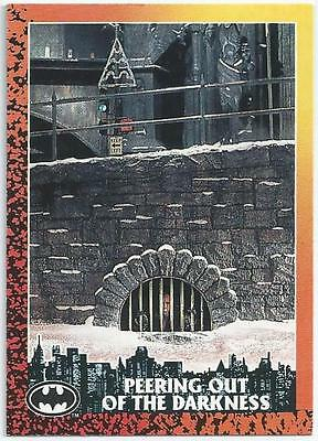 Batman Returns - Card 8 - Peering Out Of The Darkness