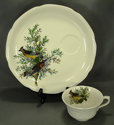 """ALFRED MEAKIN AUDUBON'S BIRDS OF AMERICA No. 43 - 9"""" SNACK PLATE & CUP SET"""