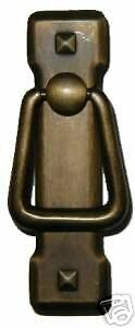 Mission Style Drawer Pull Antiqued Brass  Ad0679