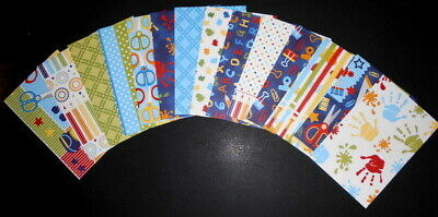 "Colourful Scrapbooking Papers x 16 **SCHOOL DAYS*** - 15cm X 10cm (6"" x 4"")"