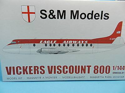S&m Models Bausatz Vickers Voscount 800 Eagle Airways 1:144
