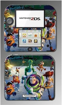 Toy Story 2 3 Woody Buzz Lightyear Rex Jessie Video Game Skin Cover Nintendo 2DS
