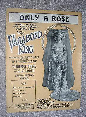 1925 ONLY A ROSE Sheet Music FRIML, Hooker THE VAGABOND KING Carolyn Thompson