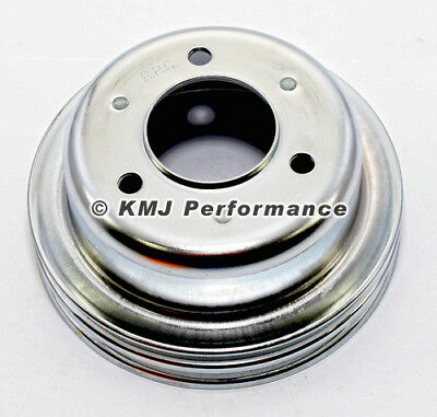 Ford Small Block Windsor 289 2V Chrome Crankshaft Crank Pulley 1964-1967 Mustang