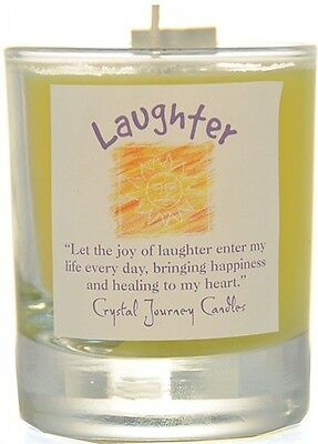 LAUGHTER Candle Reiki Herbal Magic SOY Candle MAGICK Crystal Journey Candles