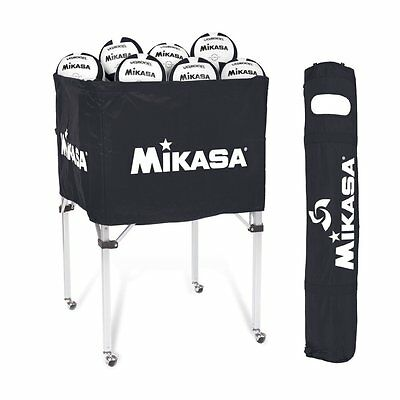 Mikasa Indoor Classic Collapsible Volleyball Ball Carts Black BCSPSH-BLA New