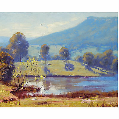 BLUE MOUNTAINS VALLEY  LANDSCAPE PAINTING FINE ART OIL by Graham Gercken