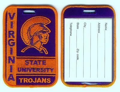 VIRGINIA STATE UNIVERSITY Luggage ID Tags Embroidered Large (Set of 2)