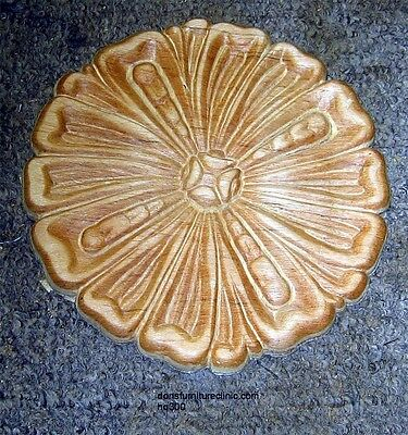 "Wood Embossed Applique Carving  5 1/2"" Dia  Hq300"